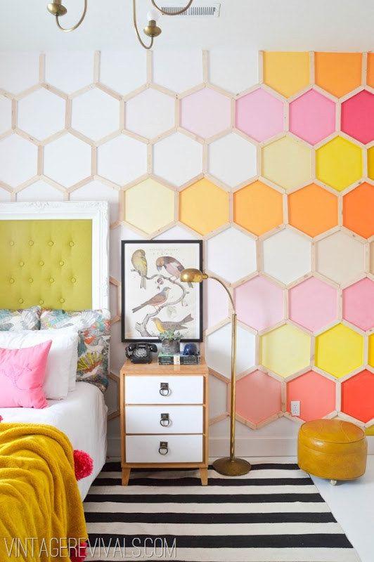 Tapet cu forme hexagonale