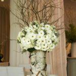 Vaza decorativa din trunchi de copac