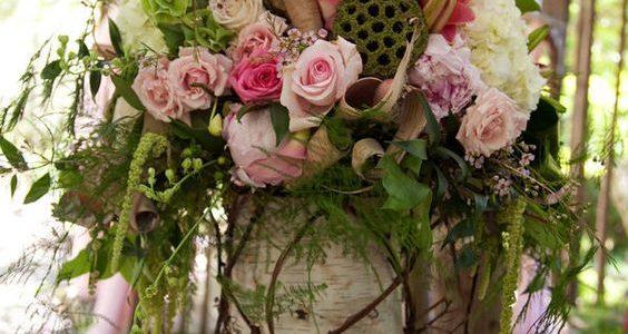 Vaza decorativa terasa din trunchi de copac