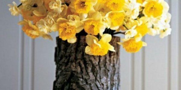 Vaza din trunchi de copac