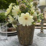 Vaza flori terasa din trunchi de copac