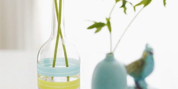 Vaze decorate cu banda adeziva decorativa