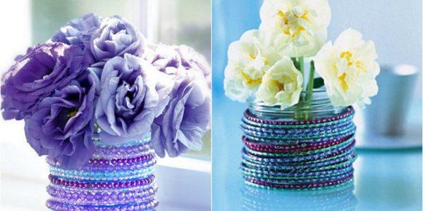Vaze decorate cu bratari