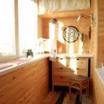 Balcon amenajat cu lemn
