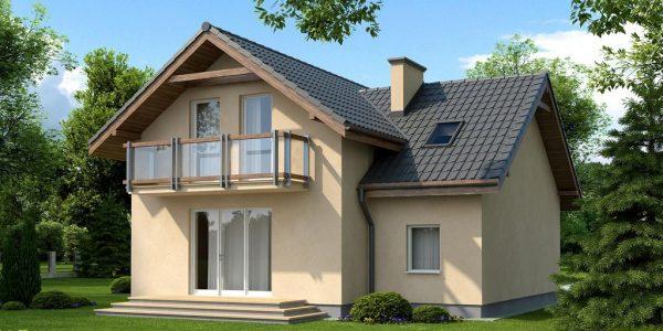 Casa cu 4 camere si 2 balcoane