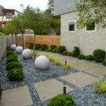 Decor modern gradina cu pietre