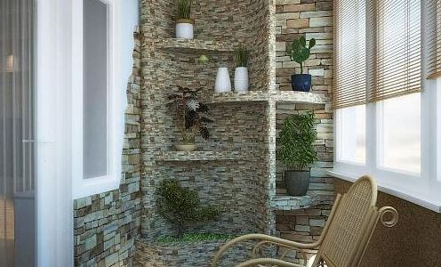 Decoratiune superba balcon