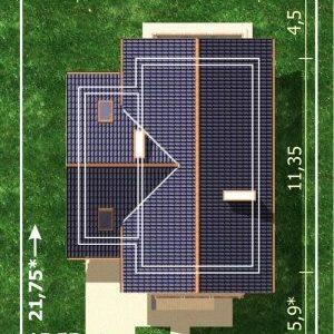 Dimensiuni teren casa cu 4 camere si 2 balcoane