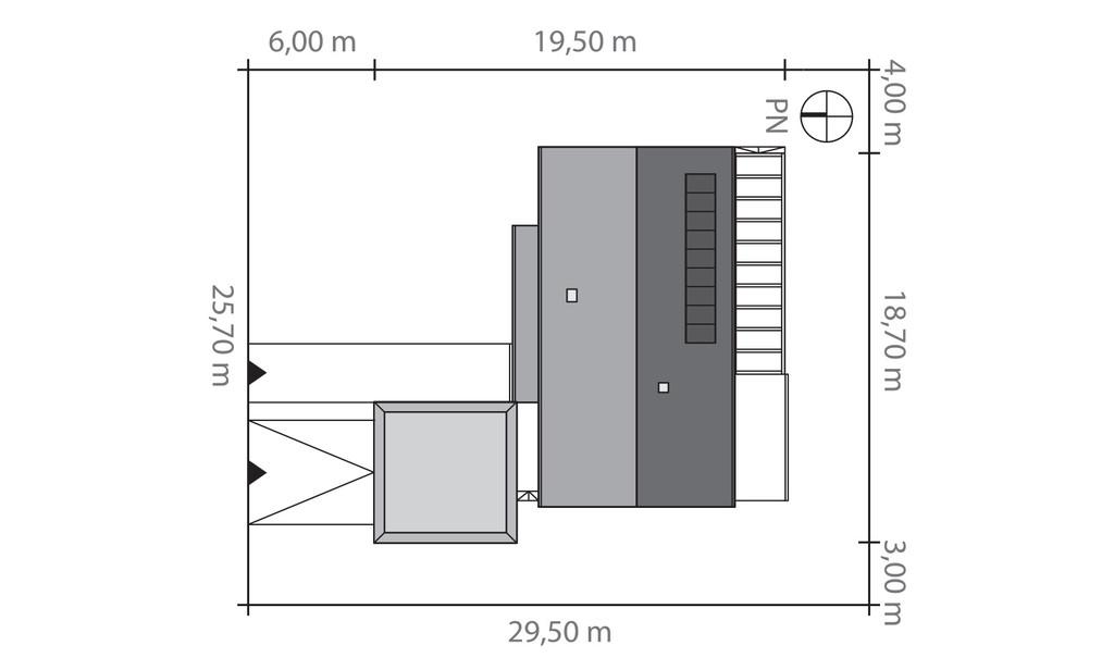 Dimensiuni teren casa parter cu 3 dormitoare