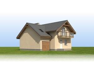 Elevatie casa cu 4 camere si 2 balcoane