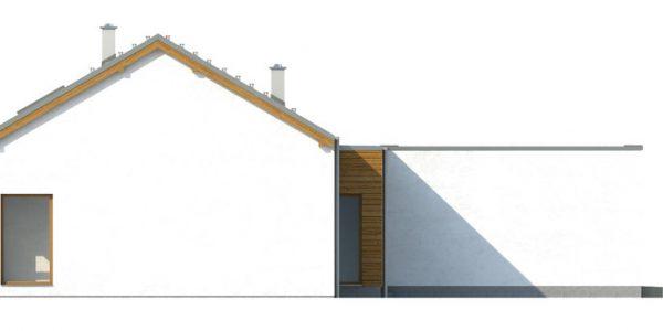 Elevatie laterala casa parter cu 3 dormitoare