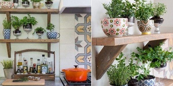 Idei vase plante aromatice bucatarie