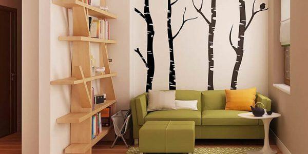 Living cu canapea verde