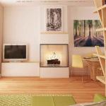 Living cu mobilier de lemn