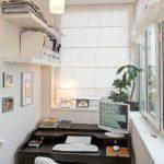Mic birou amenajat in balcon