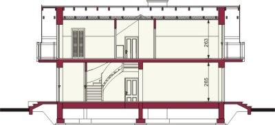 Plan vertical cu fundatie casa cu 4 camere si 2 balcoane
