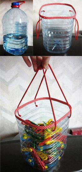 Suport clesti din bidon de plastic