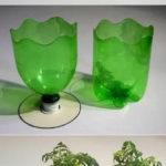 Vas de flori din sticla de plastic