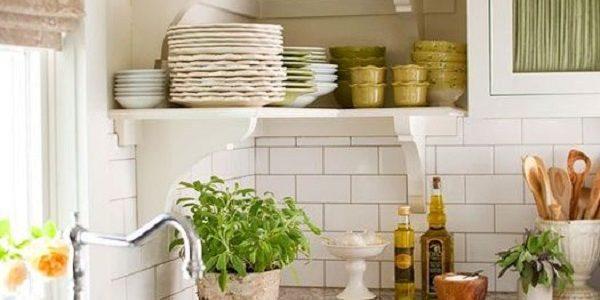 Vase cu plante aromatice in bucatarie