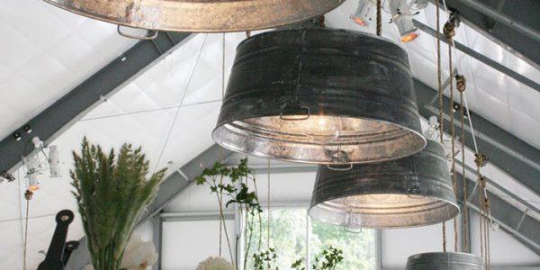 Sistem iluminare din oale