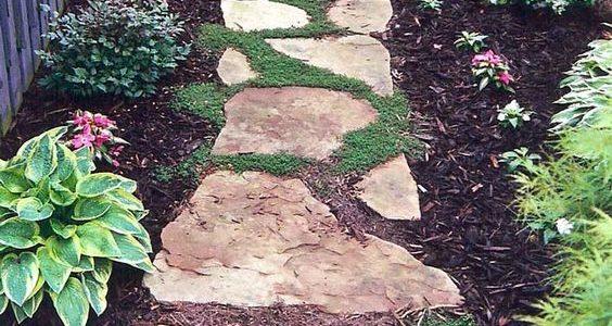Alee gradina din piatra naturaa
