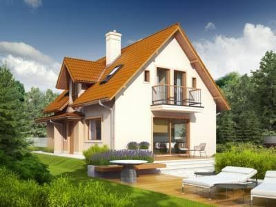 Casa cu balcon si terasa