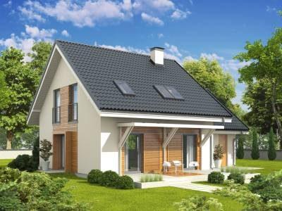 Casa cu decoratiuni din lemn