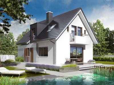 Casa moderna cu fatada alba