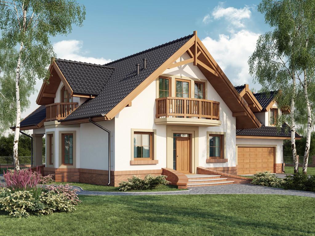 Casa cu 3 balcoane la mansarda