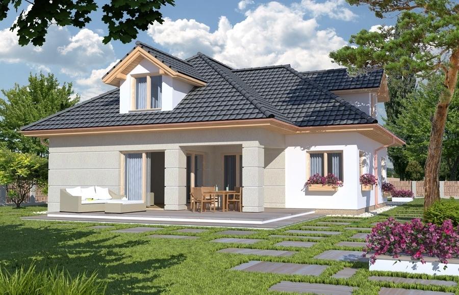 Casa cu mansarda si 4 dormitoare for Proiect casa 2 camere living baie si bucatarie