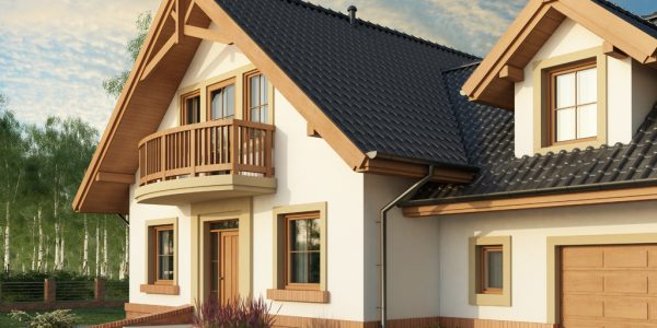 Casa cu mansarda si garaj dublu