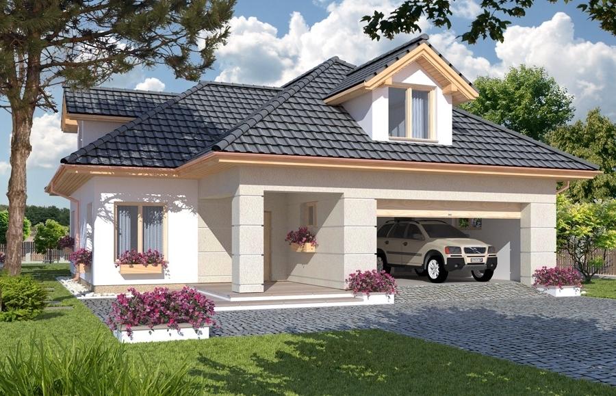 Proiect casa fara egal cu 4 camere plus living for Proiecte case cu garaj si mansarda