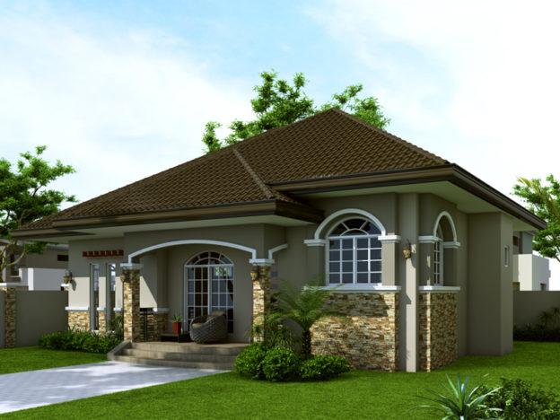 Casa mica cu arhitectura clasica