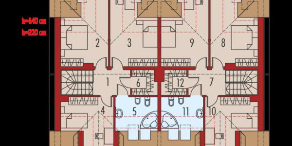 Duplex plan etaj