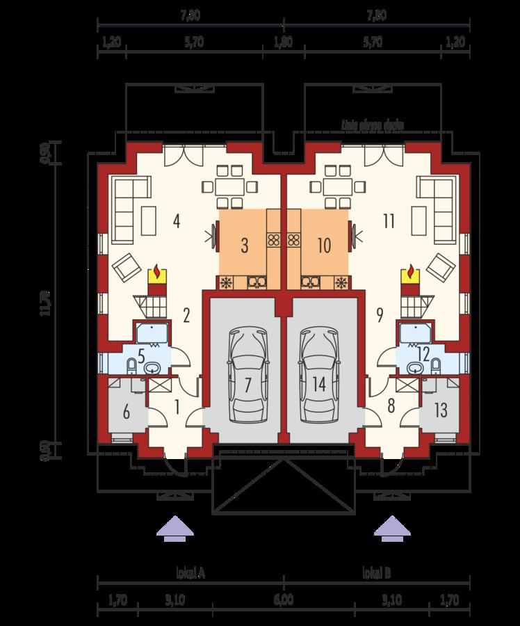 Duplex plan parter