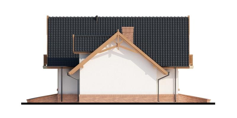 Elevatie dreapta casa cu mansarda si garaj