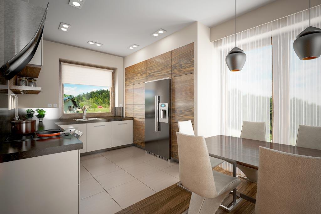 Open space cu bucatarie si dining