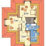 Plan etaj casa cu mansarda