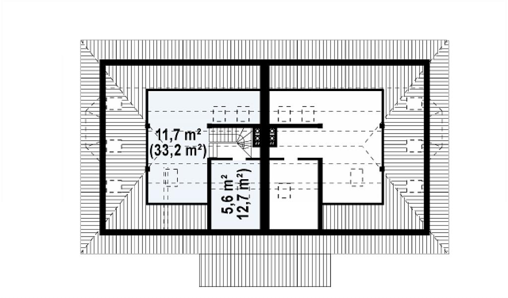 Plan pod duplex cu 4 camere