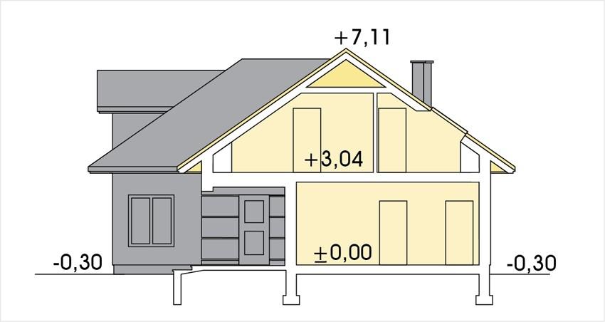 Plan vertical casa cu mansarda