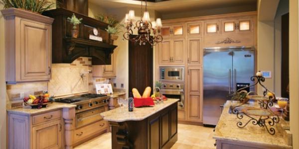 Bucatarie cu mobilier de lemn
