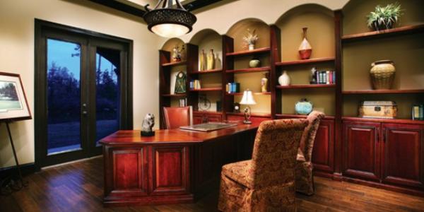 Camera cu biblioteca si birou