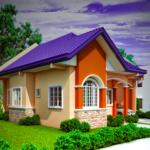 Casa colorata doar cu parter