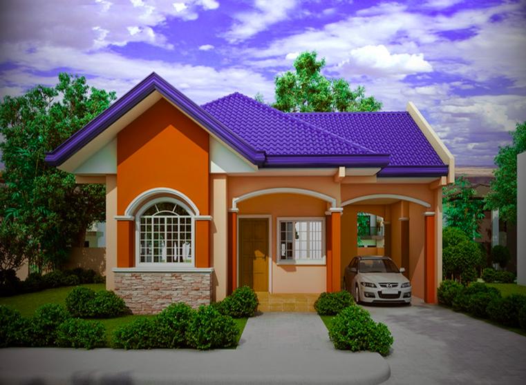 Casa colorata fara etaj