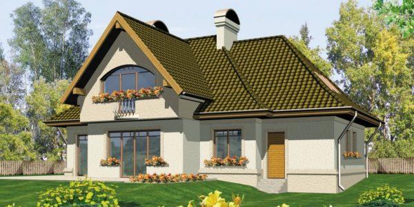 Casa cu 2 lucarne si garaj