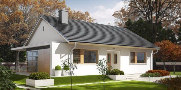 Casa cu acoperis in doua ape