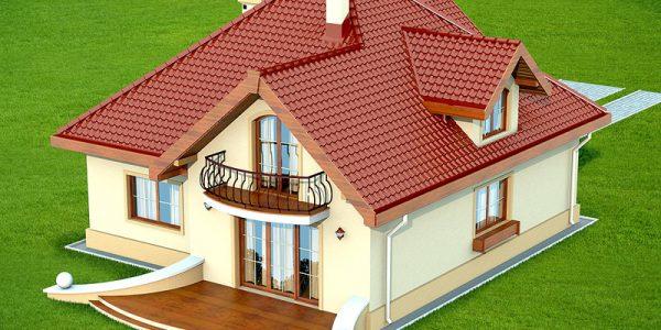 Casa cu balcoane la mansarda