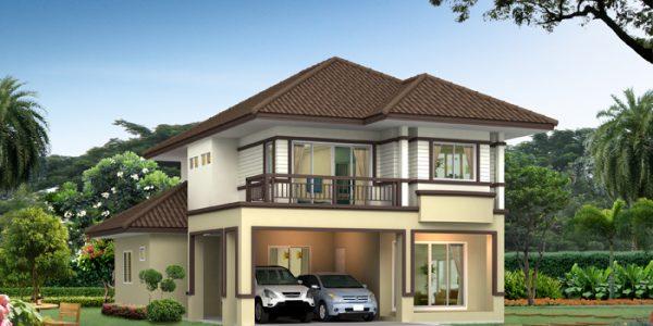 Casa cu etaj in stil mediteranean
