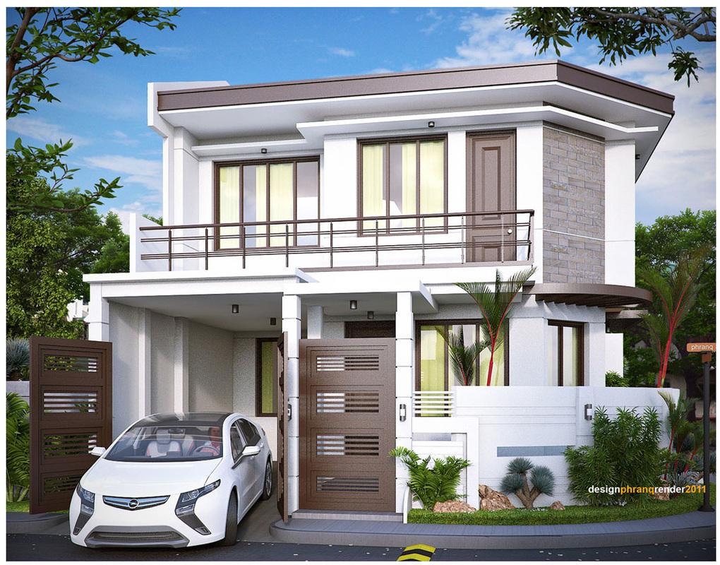 Casa cu etaj si acoperis plat