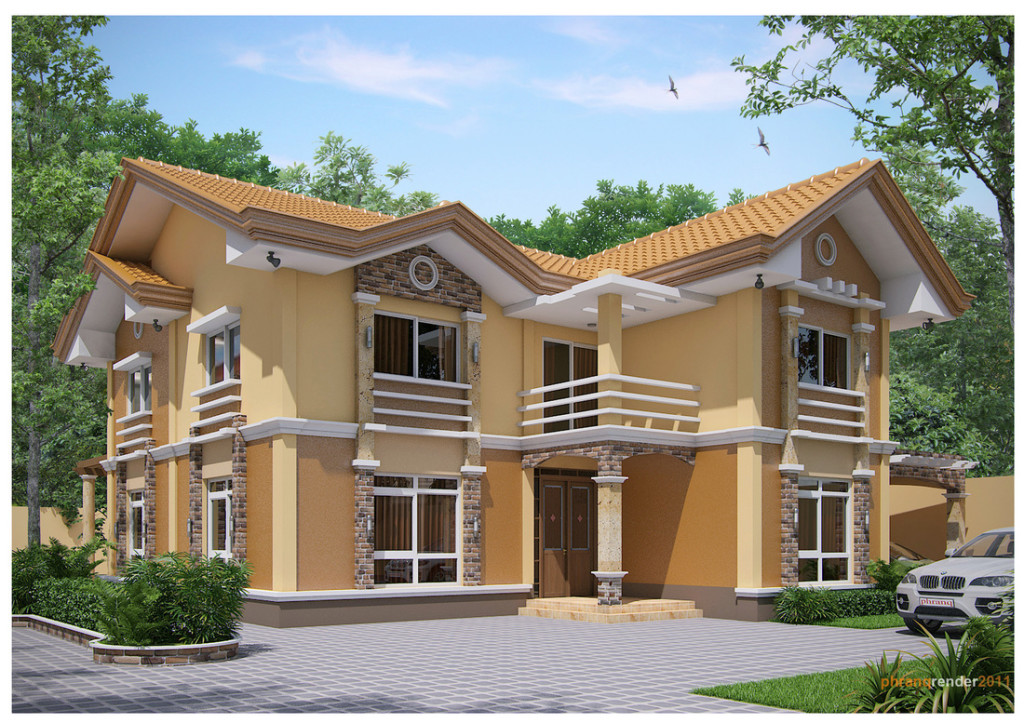 Casa cu etaj si arhitectura moderna